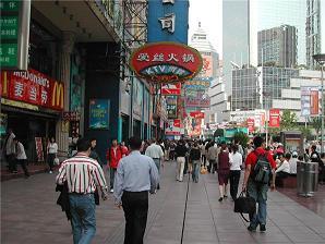 中国上海の通り